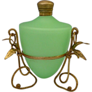 Antique French  Green Opaline Scent Perfume