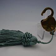 Tiny Antique Brass Lock and Key