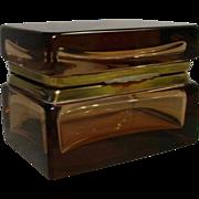 Art Deco Murano Amber Hinged Box