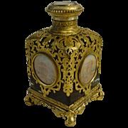 "LAYAWAY    BIG  Grand Tour Ruby Scent Bottle ""Five Miniatures"""