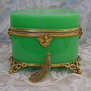 Fabulous Palais Royal  Green Opaline Scent Casket