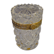 Antique French Cut Crystal Tall Hinged Box