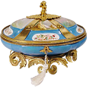 "12"" Antique Sevres Style Porcelain Casket ""EXQUISITE & RARE"""