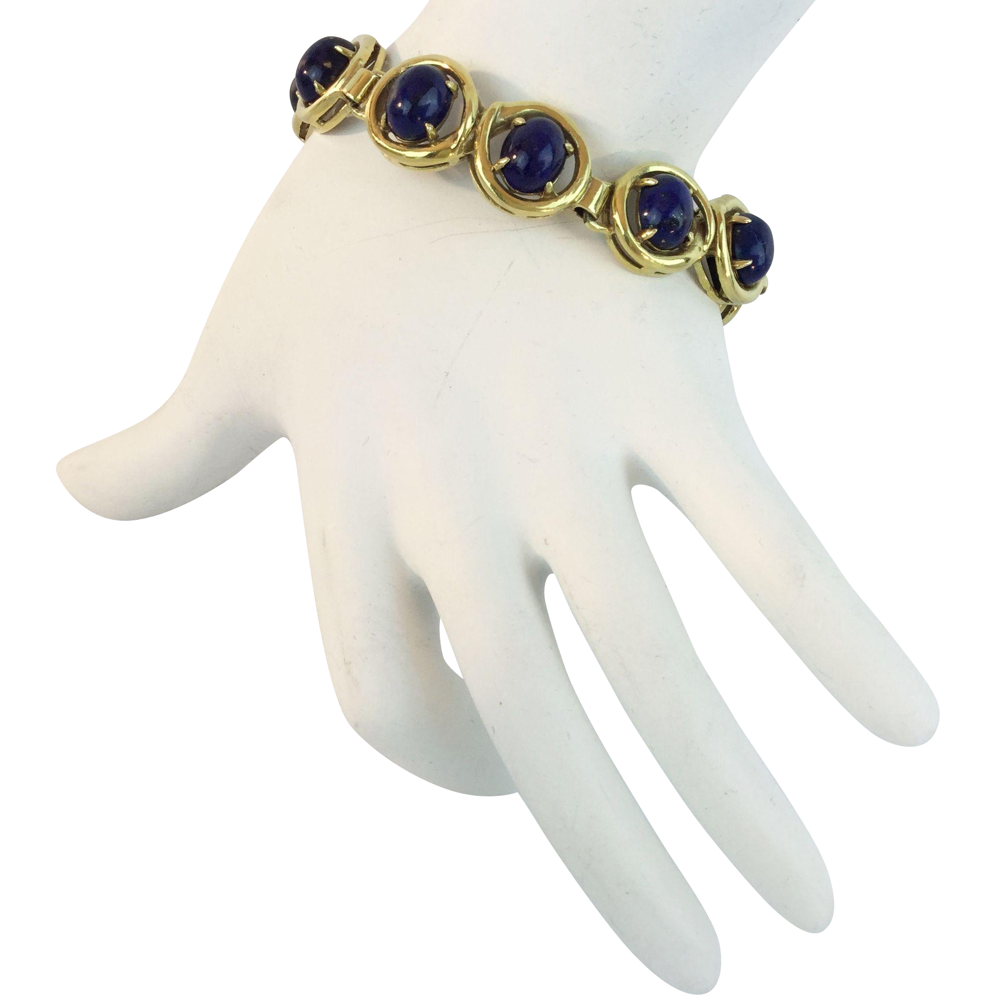 "7""  14KARAT    Lapis Lazuli Bracelet  ""Beautiful & Stunning Color"""