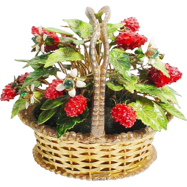 1978 Jane Hutcheson  Jeweled Strawberry Basket