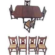 Antique English Miniature Table and Chairs