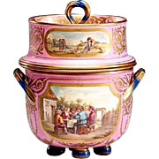 Antique English Porcelain Ice Cream Jar