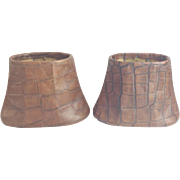 930 Faux Crocodile  Lamp Shades