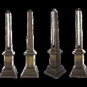 "14"" Grand Tour Bronze Obelisk Thermometer"