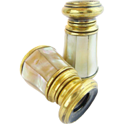 Two Antique Mother of Pearl Monocular