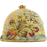 Beautiful  Antique Victorian Beadwork Tea Cozy