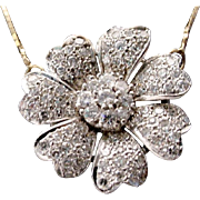 14KARAT Diamond Flower Necklace