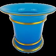 Antique French Blue Opaline Cachepot Jardinière