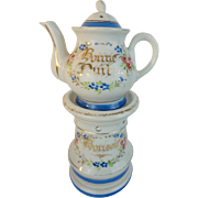 Antique French Veilleuse Teapot