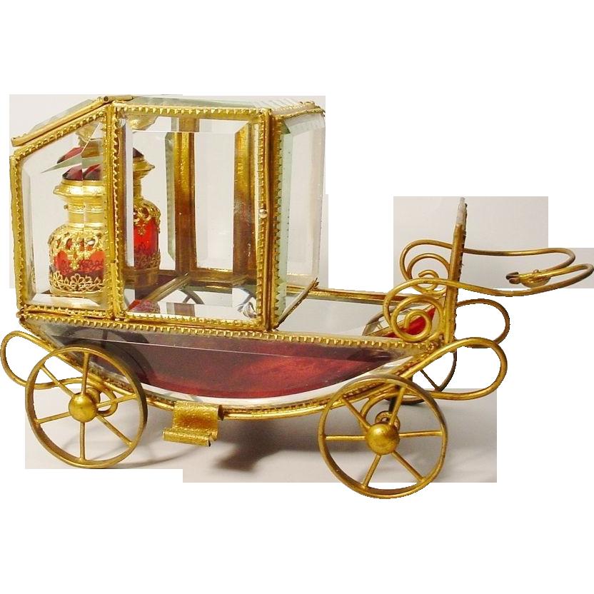 "Grandest 10 ½"" Antique Scent Coach Fit for a Queen!"