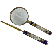 "LAYAWAY   Antique French Sevres  with Putti Desk Set ""EXQUISITE & RARE"""