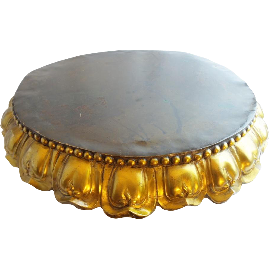 "22"" Antique Bronze Plateau ... MASSIVE and  WONDERFUL"