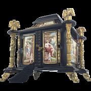 """LAYAWAY Antique  Austrian Viennese  Casket """"14  Enamel Plaques"""" MAGNIFICENT"""