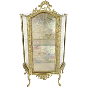 "Antique French Miniature Vitrine Curio ""Perfect for Doll or a Small Collection of Tiny Treasures"""