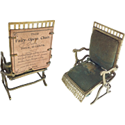 Antique Fairy Opera Chair from The Fairy Toy Works