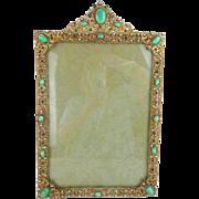 "16 ½"" Antique Austrian Jeweled Frame ""BIG & BEAUTIFUL"""