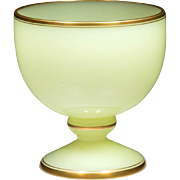 BIG Antique French Opaline Cachepot