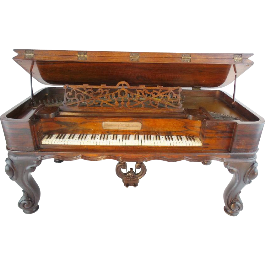 "1862 Salesman Sample Rosewood Piano wMusic Box "" Rosewood  Piano, from George M. Guild Piano Co. of Boston""  RARE & MAGNIFICENT"