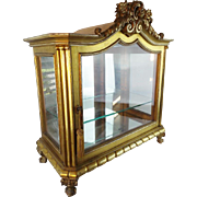 LAYAWAY Antique French Gilt Wood Miniature Vitrine  'EXQUISITE""