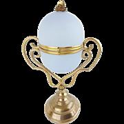 "9½"" Palais Royal Opaline Egg Box  ""Fabulous Gilt Ormolu &  RARE  Lavender"""