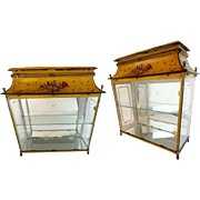 "LAYAWAY Antique Miniature Tole Vitrine  ""Showcase Your COLLECTION"""