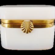 Magnificent Antique French Bulle de Savon Opaline Casket Hinged Box