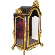 Magnificent French  Miniature Vitrine Curio