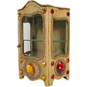 Antique Glorious Jeweled Miniature Vitrine