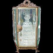 Antique French Miniature Cave de Liqueur Vitrine