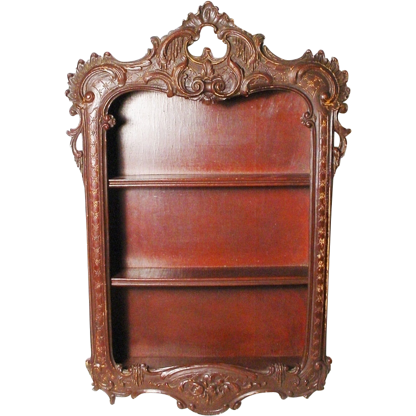 Antique Louise XV Style Wall Vitrine Curio