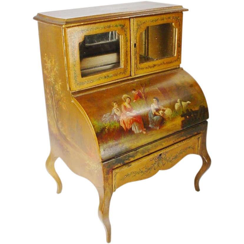 Layaway Magnificent Antique French Miniature Vernis Martin