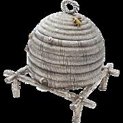 Rare Antique English Beehive Hinged Box