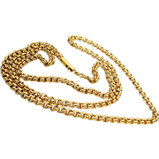 "Grandest  26""  Double Link Chain Necklace 18KARAT"