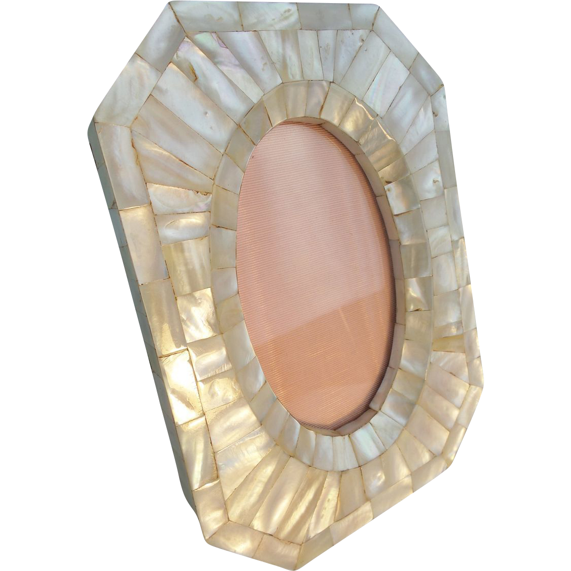 magnificent antique mother of pearl picture frame