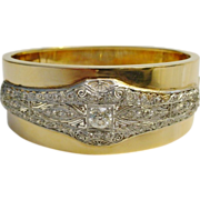 Majestic Diamond Platinum and 14K Bangle Bracelet