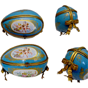 "Antique French Sevres Style Porcelain Casket ""GRANDEST"""