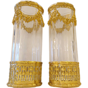 "LAYAWAY Antique 10"" Baccarat Empire  Style Vases  ""EXQUISITE"""