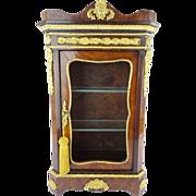 """Antique Miniature French Vitrine """"Extraordinary Gilt Ormolu"""" Circa 1840"""