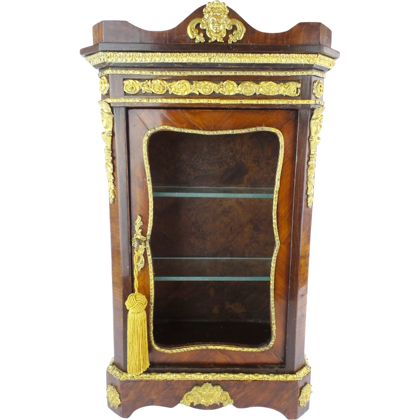 antique miniature french vitrine extraordinary gilt. Black Bedroom Furniture Sets. Home Design Ideas