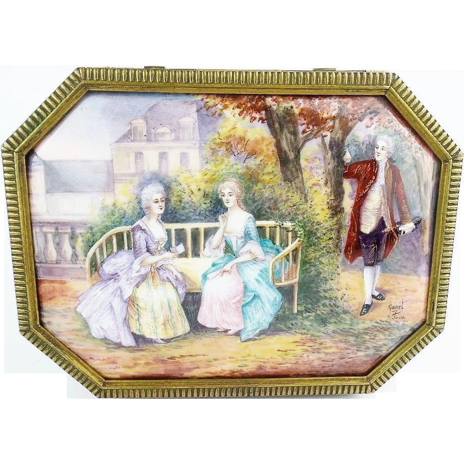 "Antique French Limoges ""Nine Enamel Plaques"" THE BEST"
