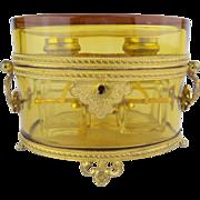 "Antique French Baccarat Double Handles Scent Casket ""'MAJESTIC"""