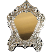 """Antique  925 Silver Vanity Mirror  """"Magnificent and Ornate"""""""