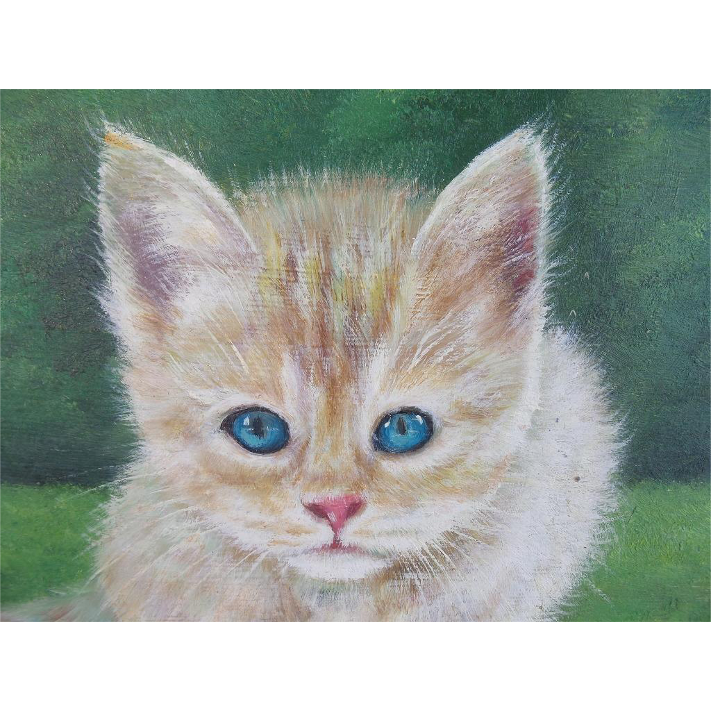 "Darling Kitten Painting ""BIG BLUE EYES"""