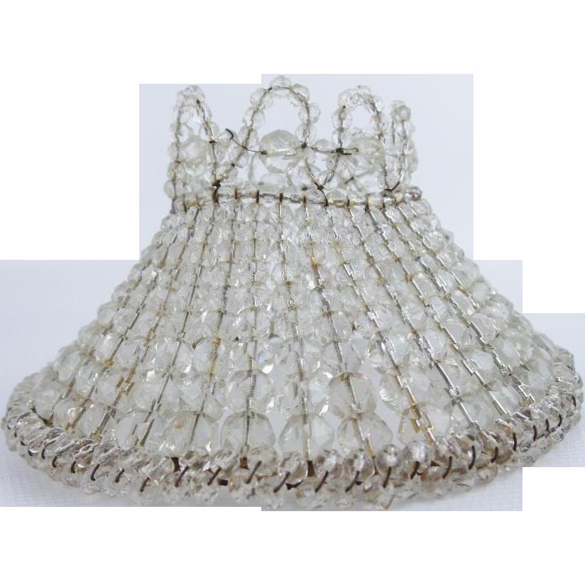 Beautiful Crystal Beaded Lamp Shade from worldrarities on Ruby Lane