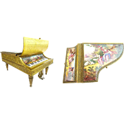 "LAYAWAY 7"" Antique Austrian Enamel Musical Piano Harpsichord"